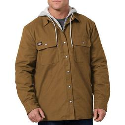 Dickies Men's Relaxed Fit Icon Hooded Duck Quilted Shirt Jac