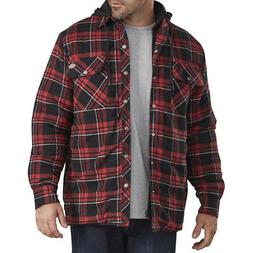 Dickies Men's Relaxed Fit Icon Hooded Quilted Shirt Jacket S