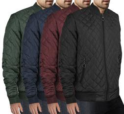 Men's Ring Zipper Stylish Quilted Water Resistant Slim Fit B