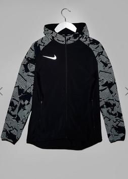 Nike Men's Running Flash Reflective Jacket In Black 858151-0