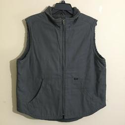 Lee Men's Sherpa Lined Canvas Vest Sleeveless Jacket Work/Ca