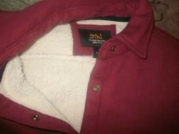 Lee Men's Shirt Jacket w/Brass Snaps Sherpa Lined size Small