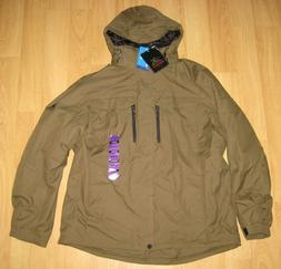 ZeroXposur Men's Size 2X-Large Mid Weight Hooded Jacket, Gro