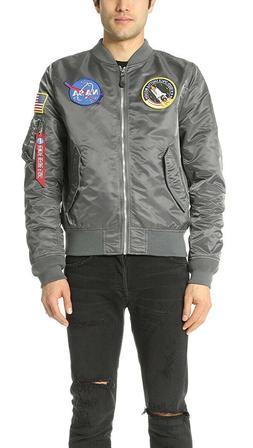 Alpha Industries Men's  M/medium L-2B NASA Bomber Flight Jac