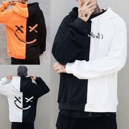 Men's Teen's Smiling Face Fashion Print Hooded Hoodie Sweats