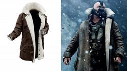 Men's The Dark Knight Rises Bane Tom Hardy Faux Fur Brown Le
