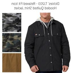 Dickies Men's TJ203 Relaxed Fit Icon Hooded Duck Quilted Shi