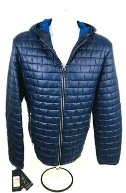 Tommy Hilfiger Men's Ultra Loft Quilted Packable Navy Hooded