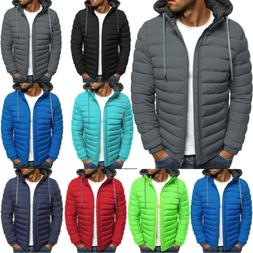 Packable Light Men's Winter Warm Down Hooded Jackets Coats P