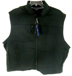 IZOD Men's Vest Jacket Black Zipper Pockets Golf Big Tall 3X