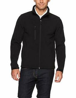 men s water resistant softshell jacket black