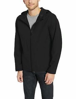 Amazon Essentials Men's Waterproof Rain Jacket Black Large N