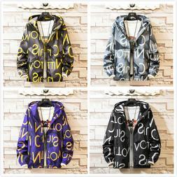 Men's Waterproof Windbreaker ZIPPER Jacket Hoodie Outwear Gy