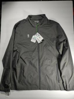 IZOD Men's Weather Defense Golf Jacket Dark Gray Size Medium