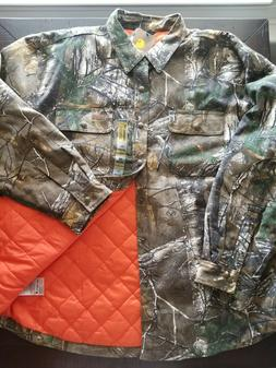 Carhartt Men's Wexford Rain Defender Camo Shirt Jacket 2XL X