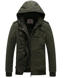 men s winter fleece jacket with hood