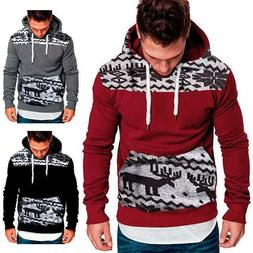 Men's Winter Hoodies Pullover Hooded Sweatshirt Outwear Swea