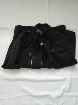 Wantdo Men's Winter Parka Stand Collar Windproof Wool Jacket