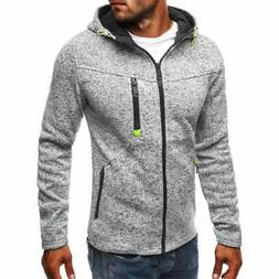 Men's Winter Slim Hoodies Warm Zipper Jacket Hooded Sweatshi