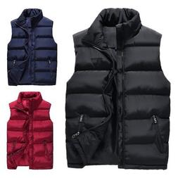 Men's Winter Warm Down Quilted Vest Body Sleeveless Padded J