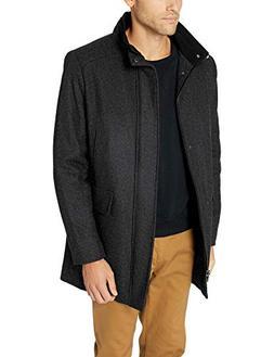 Calvin Klein Men's Wool Walker Coat, Medium Grey, Large