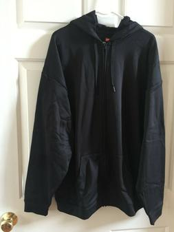 Hanes Men's X-Large Sport Active Wear Zip-up Hoodie Black Ja