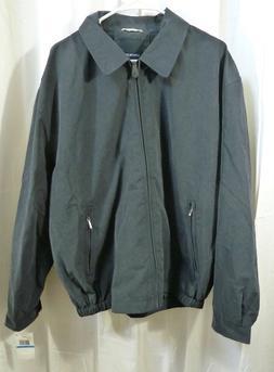 London Fog Men's Zip-Front Golf Jacket Navy Size XL