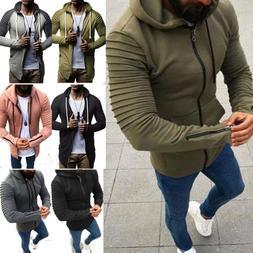 Men's Zip Up Hoodie Classic Hooded Zipper Sweatshirt Jacket