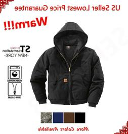 Men Sandstone Canvas Quilted Thermal Lined Duck Coat Winter
