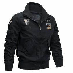 Men Spring Jacket Coat Army Pilot Jackets Air Force Cargo Ta