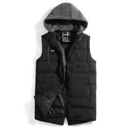Men Warm Waistcoat Casual Vest Jacket With Earphone Decorati