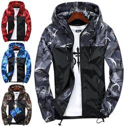 Men Waterproof Hiking Jacket Windbreaker Ski Outdoor Sport R