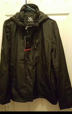Men XL ZEROXPOSUR Hardshell Rain Jacket Black  H2O & Wind re