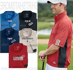 Adidas Golf Mens 1/4 Zip Windshirt Short Sleeve Freedom Jack