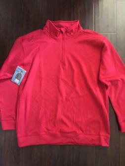 Gildan Mens 3/4 Zip Fleece Jacket Size Large