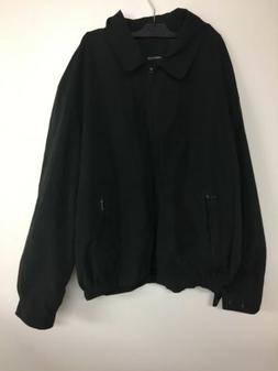 London Fog Men's Auburn Zip-Front Golf Jacket, Black, XX-L