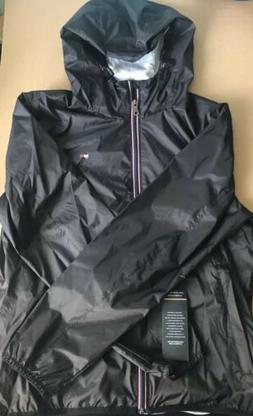 Tommy Hilfiger Men's Black Windbreaker Jacket Medium NEW W