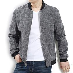 Nantersan Mens Bomber Jacket Casual Cotton Softshell Sportsw