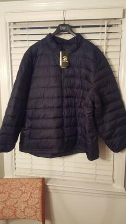 Mens Champion C9 Puffer Jacket Navy Blue Big & Tall Size 2XB