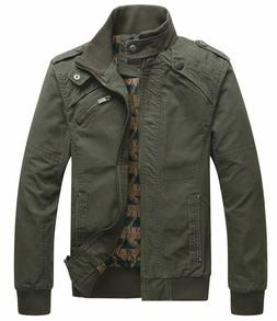 mens casual long sleeve full zip jacket