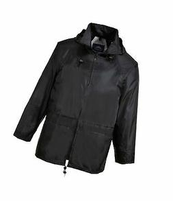 Portwest Mens Classic Rain Jacket  L  Black
