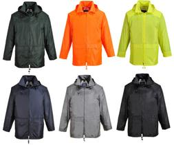 Mens Portwest Classic Rain Jacket Waterproof Coat S440