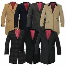 Mens Coat Wool Jacket Cashmere Casual Outerwear Overcoat Tre