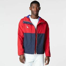 mens colorblock hooded jacket