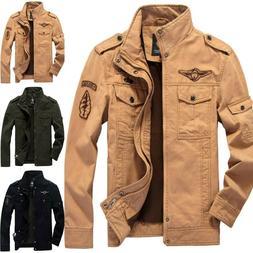Mens Combat Field Military Army Jacket Coat Winter Casual Ca