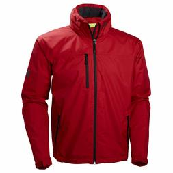 Helly Hansen Mens Crew Hooded Jacket Red New with tags