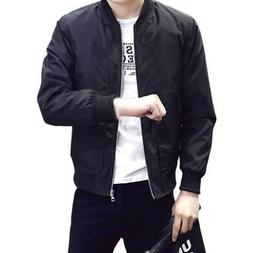 Mens Fashion Casual Bomber Jacket Warm Winter Baseball Coat