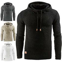 Mens Fashion Winter Hoodie Warm Hooded Sweatshirt Sweater Co