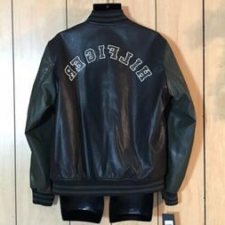 Tommy Hilfiger Mens Faux-Leather Varsity Jacket Size Large N