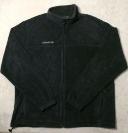 Columbia Mens Fleece Jacket Full Zip Front Black Zipper Pock
